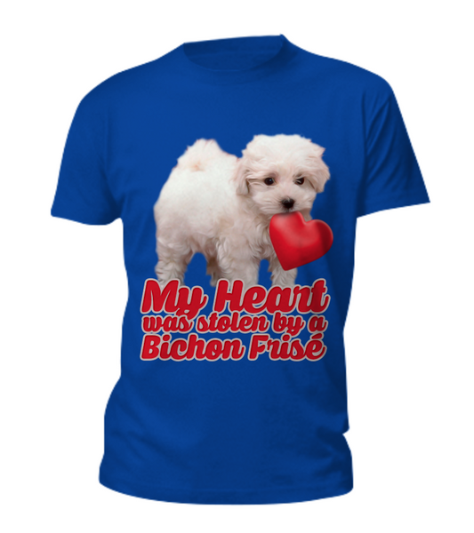 My heart was stolen by a bichon - tee - Dogs Make Me Happy - 1