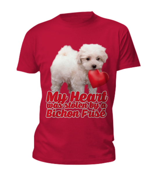 My heart was stolen by a bichon - tee - Dogs Make Me Happy - 2