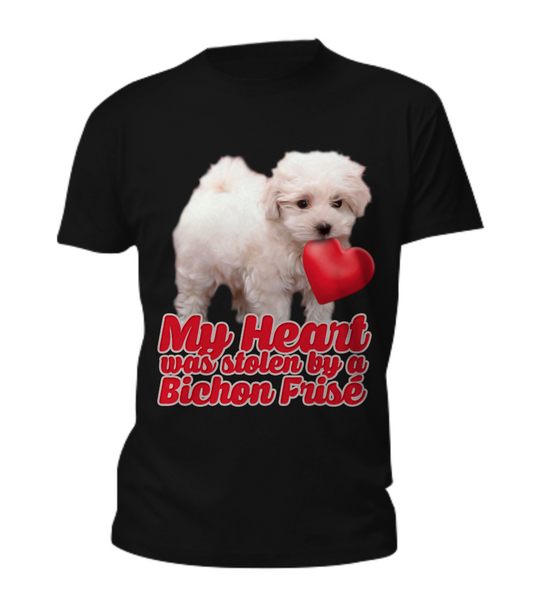 My heart was stolen by a bichon - tee - Dogs Make Me Happy - 3