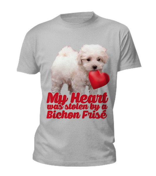 My heart was stolen by a bichon - tee - Dogs Make Me Happy - 4