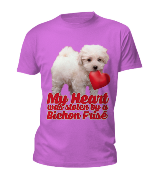 My heart was stolen by a bichon - tee - Dogs Make Me Happy - 5