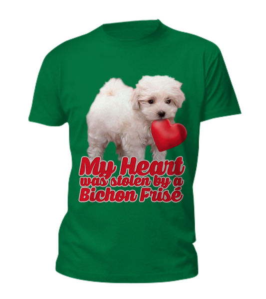 My heart was stolen by a bichon - tee - Dogs Make Me Happy - 6