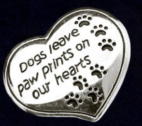 Pets leave paw prints on our hearts pin - Dogs Make Me Happy - 1