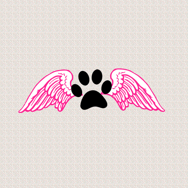 Paw with angel wings - Dogs Make Me Happy - 2