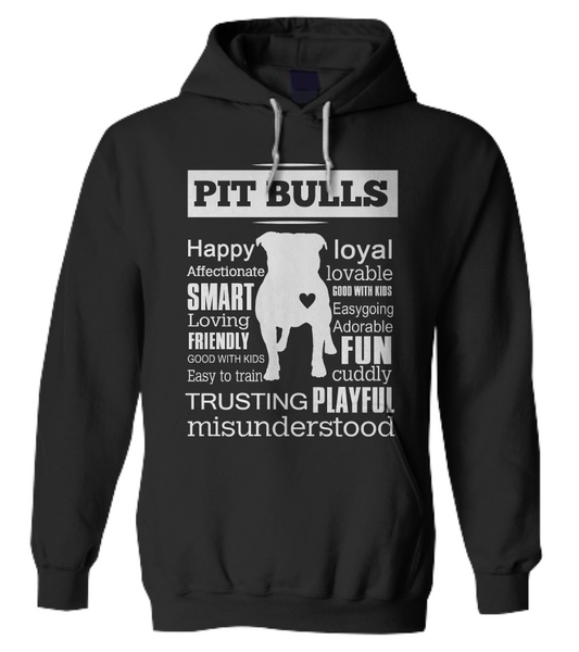 Pit Bull word shirt - Dogs Make Me Happy - 8