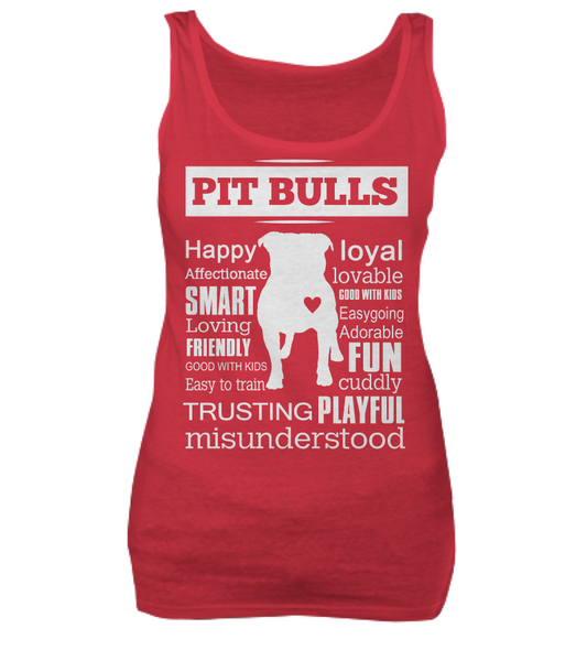Pit Bull word shirt - Dogs Make Me Happy - 6