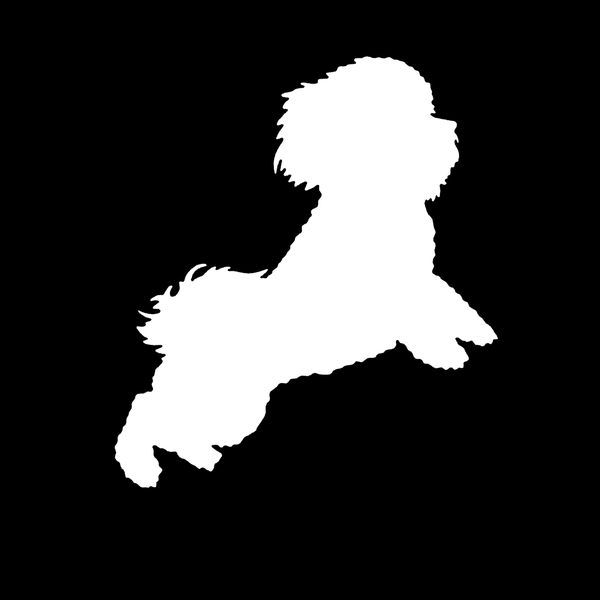 Bichon decal - Dogs Make Me Happy