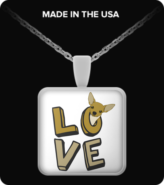 Love - chihuahua necklace - Dogs Make Me Happy - 3
