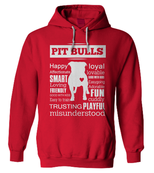 Pit Bull word shirt - Dogs Make Me Happy - 9