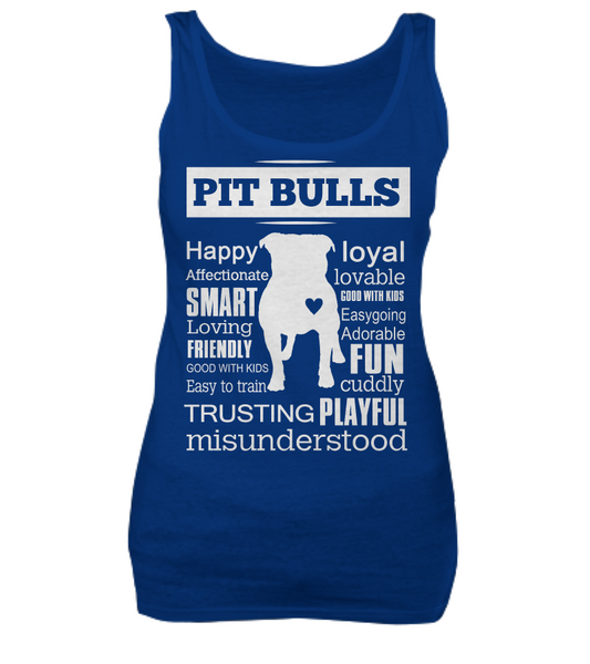 Pit Bull word shirt - Dogs Make Me Happy - 7