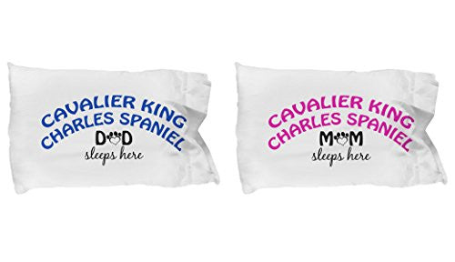 Cavalier King Charles Spaniel Mom and Dad Pillow Cases