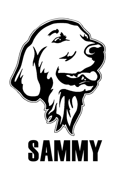 Personalized golden retriever decal/sticker - Dogs Make Me Happy - 2