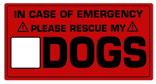 In case of emergency save the dogs sticker - Dogs Make Me Happy - 2