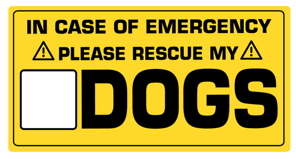 In case of emergency save the dogs sticker - Dogs Make Me Happy - 1