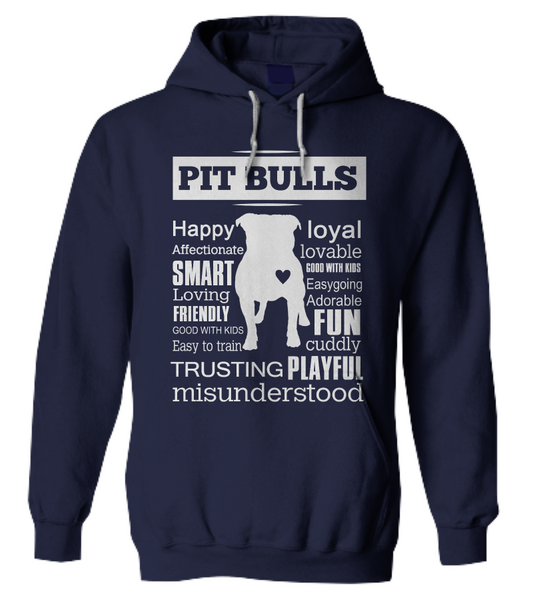 Pit Bull word shirt - Dogs Make Me Happy - 10