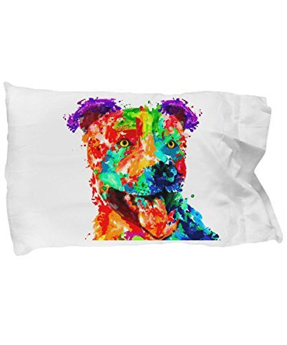 Colorful pillow case - Pit Bull Lover Gifts