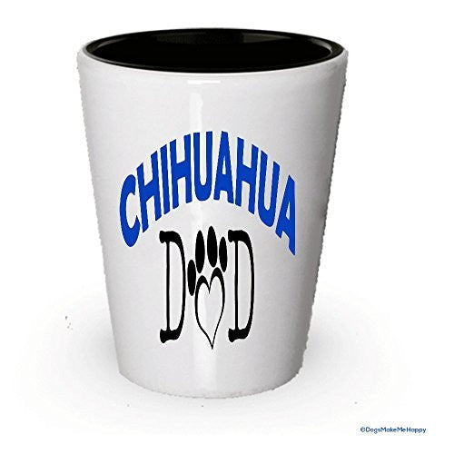Chihahua Dad and Mom Shot Glass - Gifts for Chihahua Couple