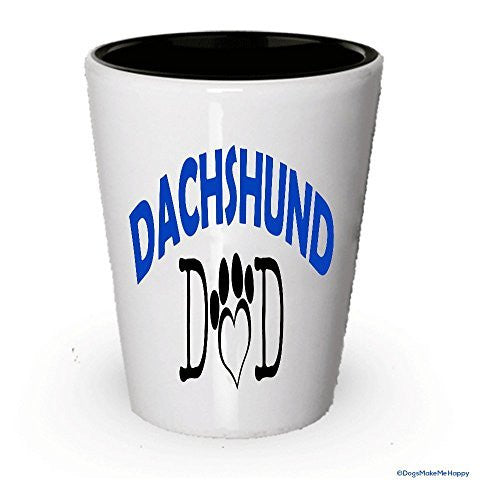 Dachshund Dad and Mom Shot Glass - Gifts for Dachshund Couple