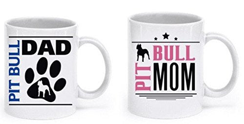 Pit Bull Mugs - Pit Bull Owners - Pit Bull Lovers - Pit Bull Gifts - Dogs Make Me Happy