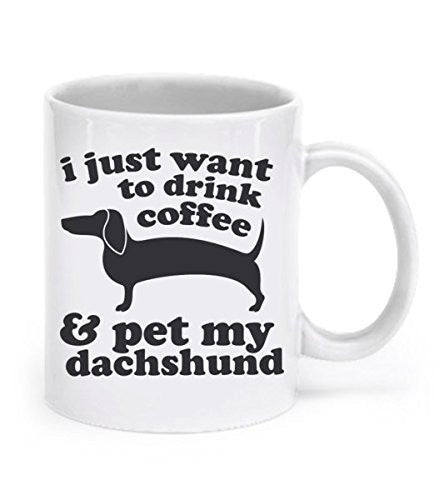 Dachshund Mug Dog Mug Dachshund Gifts Coffee Mug Wiener Dog Lover Gift Dachshund Cup Doxie Mug Ceramic Mug Animal Mug Weiner Dog Tea Cup - Dogs Make Me Happy
