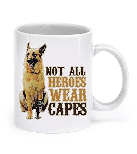 German Shepherd Mugs Not All Heroes Wear Capes German Shepherds