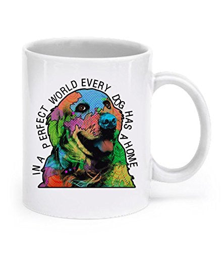 Golden Retriever Mug - Golden Retriever Gifts - Golden Retriever Mug, In a Perfect World - Golden Retrievers