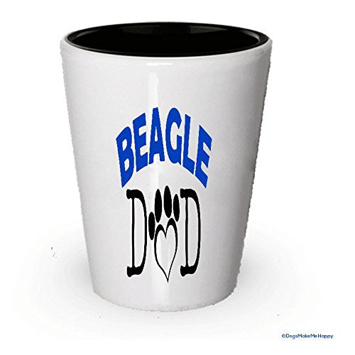 Beagle Dad and Mom Shot Glasses - Gifts for Beagle Couple