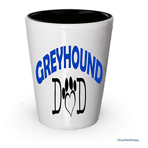 Greyhound Dad and Mom Shot Glass - Gifts for Greyhound Couple
