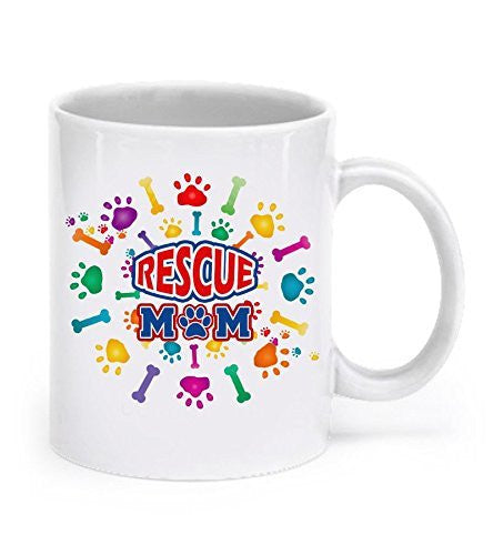 Rescue Mom Mug - Dog Rescue Gifts - Dog Lover Gifts - Pet Lover Gifts - Dogs Make Me Happy