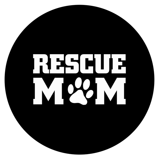 Rescue mom sticker - Dogs Make Me Happy