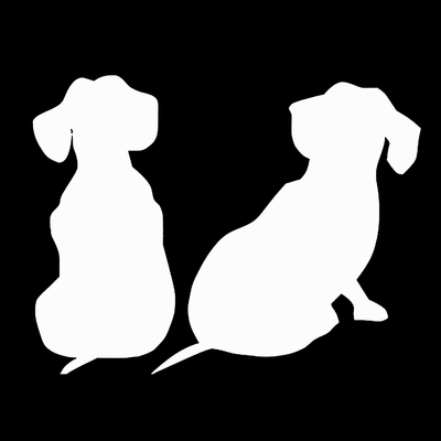 Dachshund puppies decal - Dogs Make Me Happy