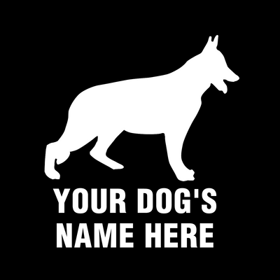 Personalized german shepherd decal/sticker - Dogs Make Me Happy - 1