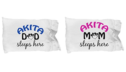 Akita Mom and Dad Pillow Cases