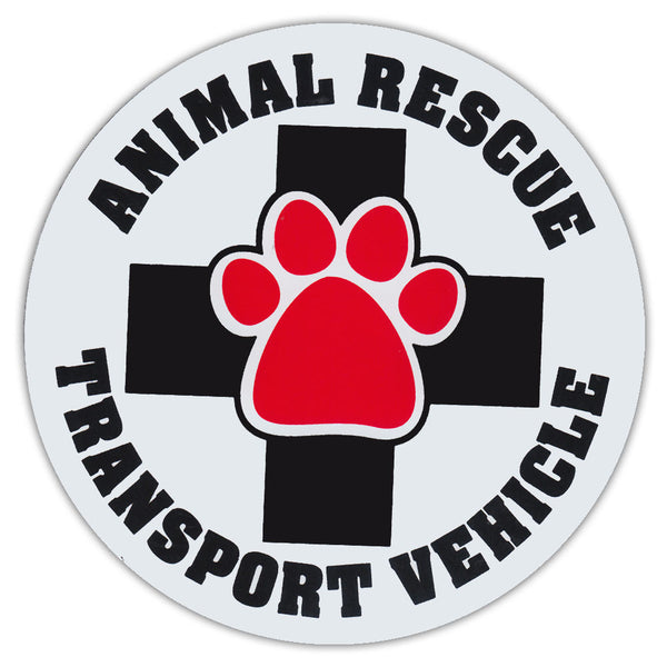 Animal rescue transport vehicle magnet - Dogs Make Me Happy