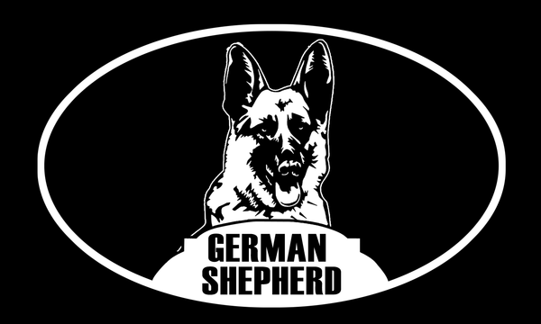 Face german shepherd sticker - Dogs Make Me Happy