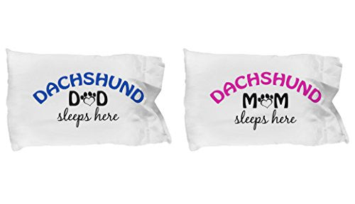 Dachshund Mom and Dad Pillow Cases