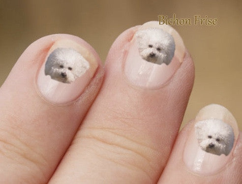 Bichon nail art - Dogs Make Me Happy - 1