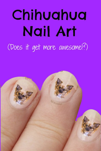 Chihuahua nail art - Dogs Make Me Happy - 2
