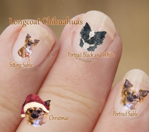 Chihuahua nail art - Dogs Make Me Happy - 1