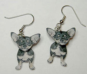 Chihuahua earrings - Dogs Make Me Happy