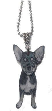 Chihuahua necklace - Dogs Make Me Happy - 1