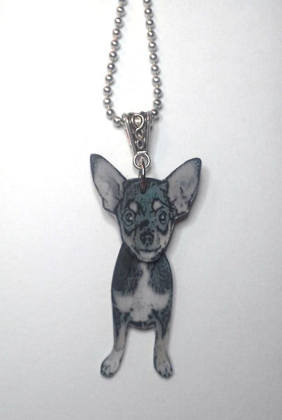 Chihuahua necklace - Dogs Make Me Happy - 2