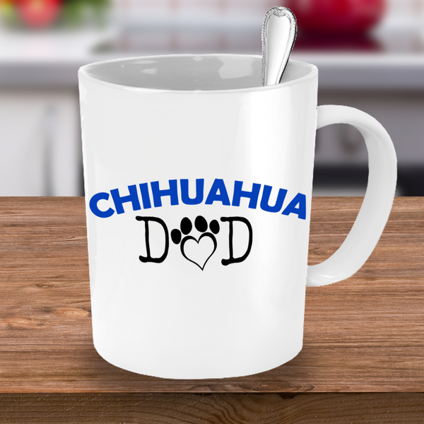 Chihuahua Mom And Dad Couple Mug Set (2 mugs) - Dogs Make Me Happy - 3