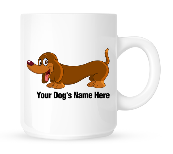 Personalized mug for your dachshund - Dogs Make Me Happy