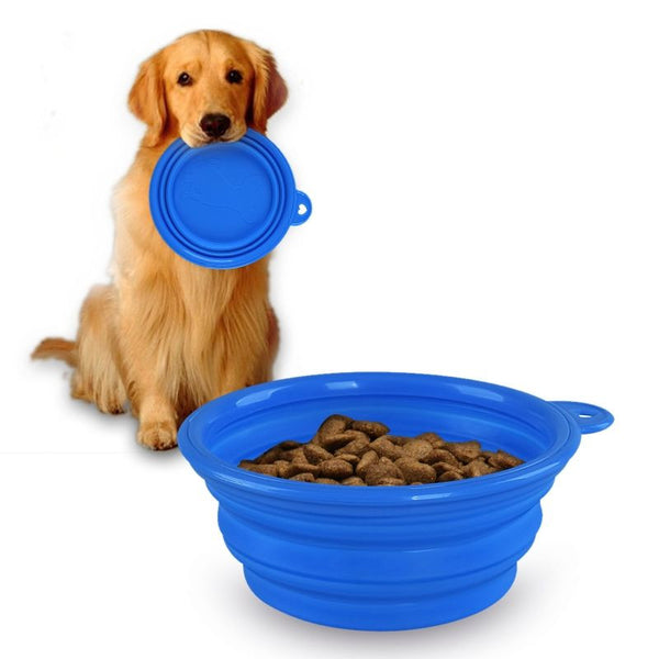 Travel Dog Bowl - Dogs Make Me Happy - 2