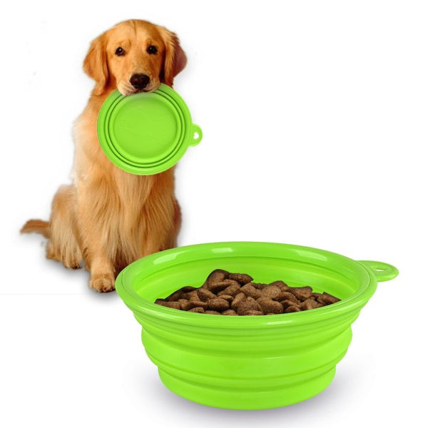 Travel Dog Bowl - Dogs Make Me Happy - 3