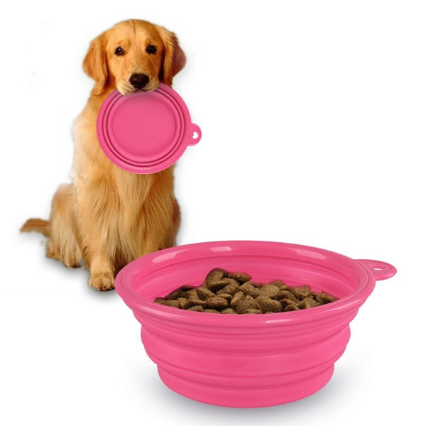 Travel Dog Bowl - Dogs Make Me Happy - 4