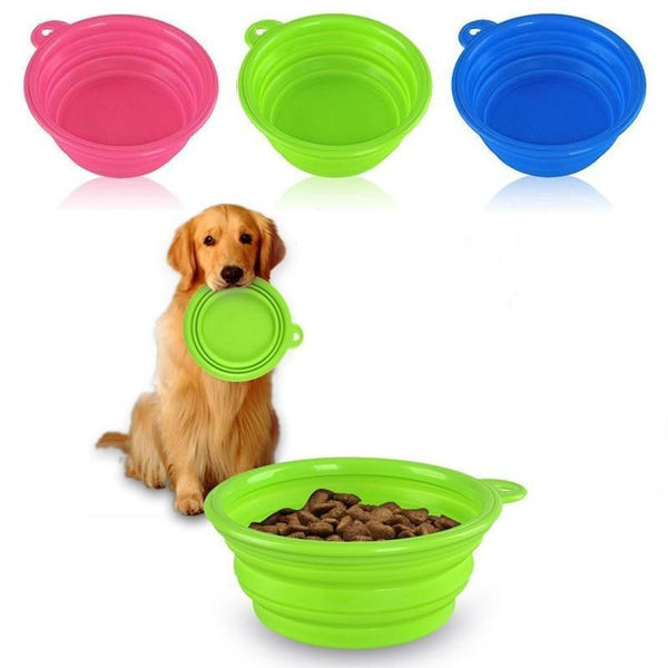 Travel Dog Bowl - Dogs Make Me Happy - 1