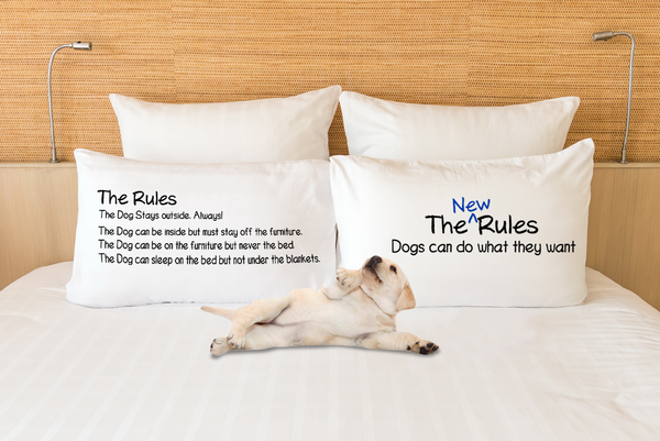 Dog rules - Dogs Make Me Happy Pillow case