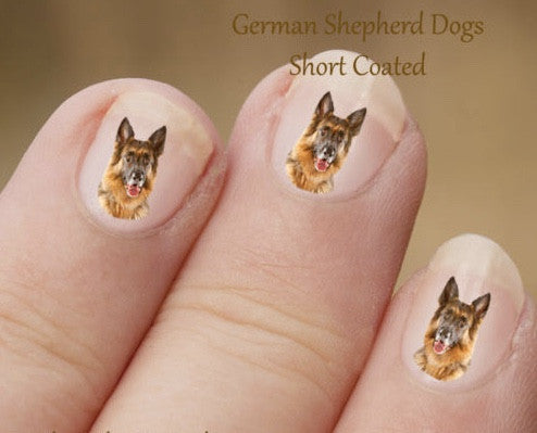 German Shepherd nail art - Dogs Make Me Happy